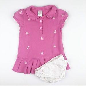 Gymboree Pink Poodle Dress & Bloomers 6-12M